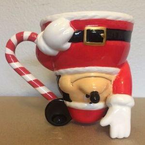 Disney Christmas Mickey Mouse Santa Claus Mug Cup